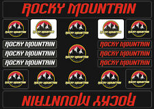 Rocky Mountain  Bicycle Frame Decals Stickers Graphic Adhesive Set Vinyl Red