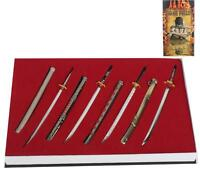 8Pcs One Piece Weapon Set Roronoa Zoro Cosplay Props Sword Model Collection Gift