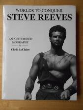 STEVE REEVES biography WORLDS TO CONQUER bodybuilding muscle book