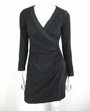 MAX STUDIO LONG SLEEVE DRESS SIZE S, CHARCOAL GRAY