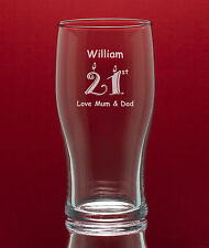 Personalised Engraved Tulip Half Pint Glass-Best Man/Usher/Birthdays-Gift Boxed