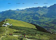 Alte Postkarte - Adelboden - Sesselbahn und Bergrestaurant Tschentenalp
