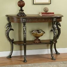 Powell 416-225 Masterpiece Floral Demilune Console Table New