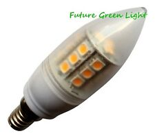 E14 SES CANDLE 24 SMD LED 240V 3.8W 350LM WARM WHITE DIMMABLE BULB ~50W