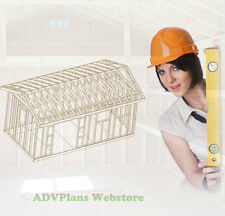 10X20 GABLE ROOF,  BACKYARD WOOD SHED PLANS, CAD DESIGN STEP BY STEP WOOD PLANS