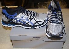 ASICS GEL KAYANO 21 SHOES MENS 8 SILVER BLUE NEW IN BOX FREE SHIPPING