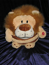 Mushabelly Chatter Lion Mushkin Plush Sound Roar Snore Round Microbead Brown 18""