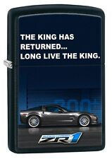 "Zippo Lighter: Chevy Corvette Billboard ""The King Has Returned"" - Black Matte"