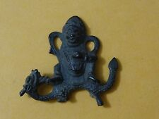 ANTIQUE CHINESE TIBETAN  BUDDHIST small brass STATUE OF JAMBHALA