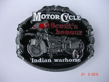BELT BUCKLE INDIAN CHIEF SCOUT BRAVE CLASSIC MOTOR CYCLE