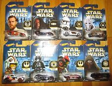 Star Wars FORCE AWAKENS HOT WHEELS EXCLUSIVE WALMART VEHICLE SET OF 8 1:64 REN