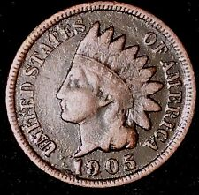 "1905 1C Indian Head Cent oha ""VG-F""  Free Shipping & Handling"