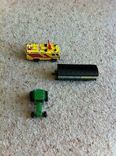Matchbox Green Tractor 1978 & Command Vehicle 1990, ERTL Train Carriage 1987