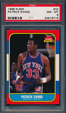 Patrick Ewing Knicks HoF 1986-87 Fleer #32 Rookie Card rC PSA 8 QUANTITY