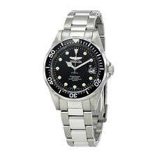 Invicta Pro Diver Black Dial Stainless Steel Mens Watch 17046