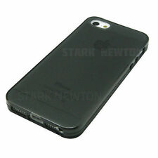 BLACK GRAY FROST CLEAR Thin TPU GEL Case Cover For Apple iPhone 5 5G 5S  SE