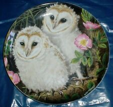 Wedgwood Collectors Plate BARN OWL CHICKS - THE BABY OWLS
