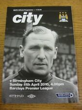 11/04/2010 Manchester City v Birmingham City  . Thanks for viewing this item, bu