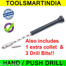 PCB Push Drill + 2 Collet + 5 Drill bits |  Hand Tool