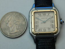 GENUINE CARTIER 18K / STEEL 26MM MID SIZE DATE PANTHERE PANTHER
