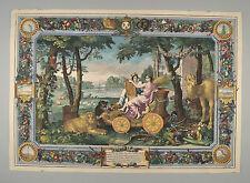 Allegorical Tapestry Design for Luis XIV Earth tierra Gobelin by le brun ca 1680