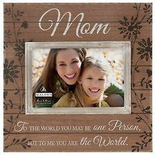 Malden Sun Washed Words Mom Walnut Distressed Picture Frame, 4 by 6-Inch , New,