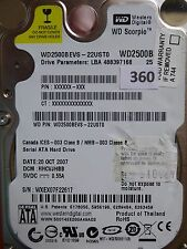 250gb Western Digital WD 2500 BEVS - 22ust0 | hhcvjhbb | 20 Oct 2007 #360