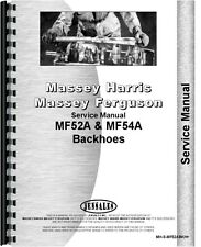 Massey Ferguson 52A 54A Backhoe Attachment Service Manual (MH-S-MF52ABKH+)