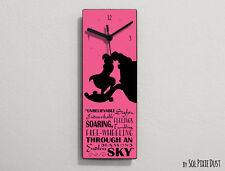 Aladdin and Jasmine Kiss Quotes - Wall Clock