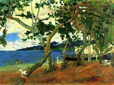 PAUL GAUGUIN BEACH SCENE OLD MASTER ART PAINTING PRINT POSTER 2150OMA