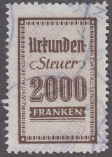 Saar Saargebiet General Revenue Erler #125 used 2000Fr 1947