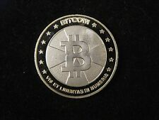 BIT COIN 2013 PHYSICAL METAL NOVELTY COIN 10 mBTC ~ Like Casascius Lealana Titan