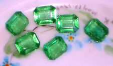 #1438G Vintage Rhinestones Peridot Octagon Pointed 10 X 8mm NOS Green Rectangle