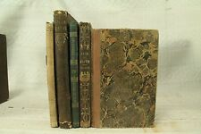 lot 5 antique old Children's  Bible books distressed decor decorators shelf