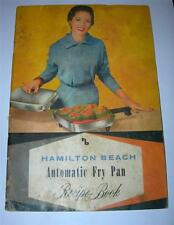 "VINTAGE HAMILTON BEACH AUTOMATIC FRY PAN  ""RECIPE & INSTRUCTION BOOK"