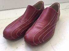 Men's Red leather ECCO slip-on loafers shoes 42 (US M 9, W 11)