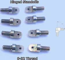 Threaded  Standoff Hinge 8-32 thread Brass 2 sets in silver color s1t2o3c4k5