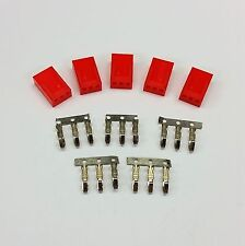 PK OF 5 - FEMALE 3 PIN FAN POWER CONNECTOR - RED INC PINS
