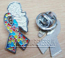 Autism Awareness Jewellery, Autism Angel  Ribbon pin, tie pin,  40 X20 mm
