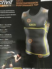 Mens Crivit Sports Mens Skincompression Performance Top Size Small 34-36 New