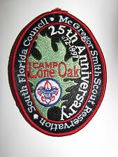 Collectable 25th Anniversary Camp Lone Oak South Florida Council Patch 1972-1997