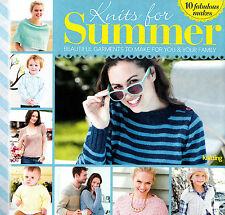 KNITTING PATTERN BOOKLET SUMMER 10 DESIGNS LADY CHILD MEN SWEATERS CAPE SKM M5B