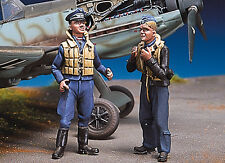ANDREA MINIATURES SW-09 SKY WARRIOR - GERMAN PILOTS AT REST III 1/48 WHITE METAL