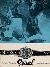 1970 Ogival Watch Co Switzerland Swiss Print Ad Publicite Suisse Montres Schweiz
