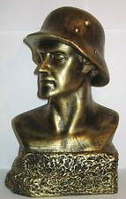 Soldaten Büste mit Stahlhelm, 27cm, Porzellan, im Nostalgie Stil, 27x17x10cm