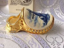 Edgar Berebi Limited Edition Dutch Sabot Cameo Clogs Shoe Collectible Box