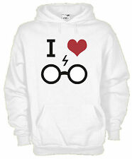 Felpa cappuccio MOVIE KM16 I Love Harry Potter 80/20 cotone poliestere unisex