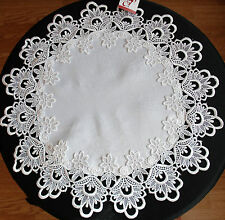 Lace cream, white, red doily victorian style gift, wedding decoration