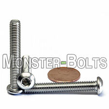 6mm x 1.00 x 40mm - Qty 10 - A2 Stainless Steel BUTTON HEAD Screws  M6-1.0 x 40