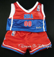 BUILD-A-BEAR BASKETBALL UNIFORM #00 OFFICIAL NBA TEDDY SPORTS COSTUME CLOTHES